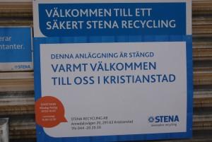Stena stängde sin anläggning i Hässleholm den 12 juni. Foto: Urban Önell