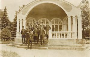 1930, då denna bild togs, var Skånska trängregementet i Hässleholm ensamma i landet om att ha egen musikkår. Foto ur Västra Göinge hembygdsförenings arkiv