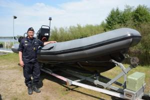 Insatschef Mattias Nielsen har hållit i undersökningarna i Finjasjön. Foto: Berit Önell