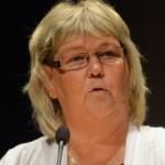 Kommunstyrelsens ordförande Lena Wallentheim (S) berättade att de 46 miljoner kommunen avsatt till fiberetablering inte kommer att räcka. Foto: Urban Önell