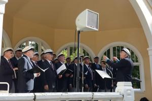 Bjärnums manskör sjöng bland annat revykupletten Den gula paviljongen från 1920-talet.