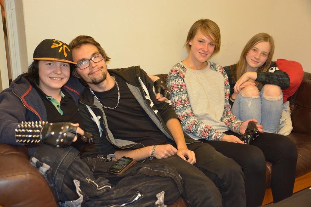 Här får alla vara som de är, från vänster Jacks Lindström, Lucas Nilsson, Mathilda Jönsson och Sandra Gustafsson.