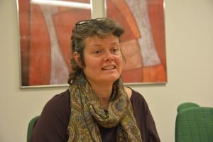 Stina Lindén, anhörigstrateg i Hässleholms kommun, ansvarar för Anhörigforum. Foto: Berit Önell