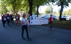 Sverigedemokraterna, som motionerat om att ändra detaljplanen för att bevara pavilöjongen och parken, har också medverkat vid protestkonserterna. Foto: Berit Önell