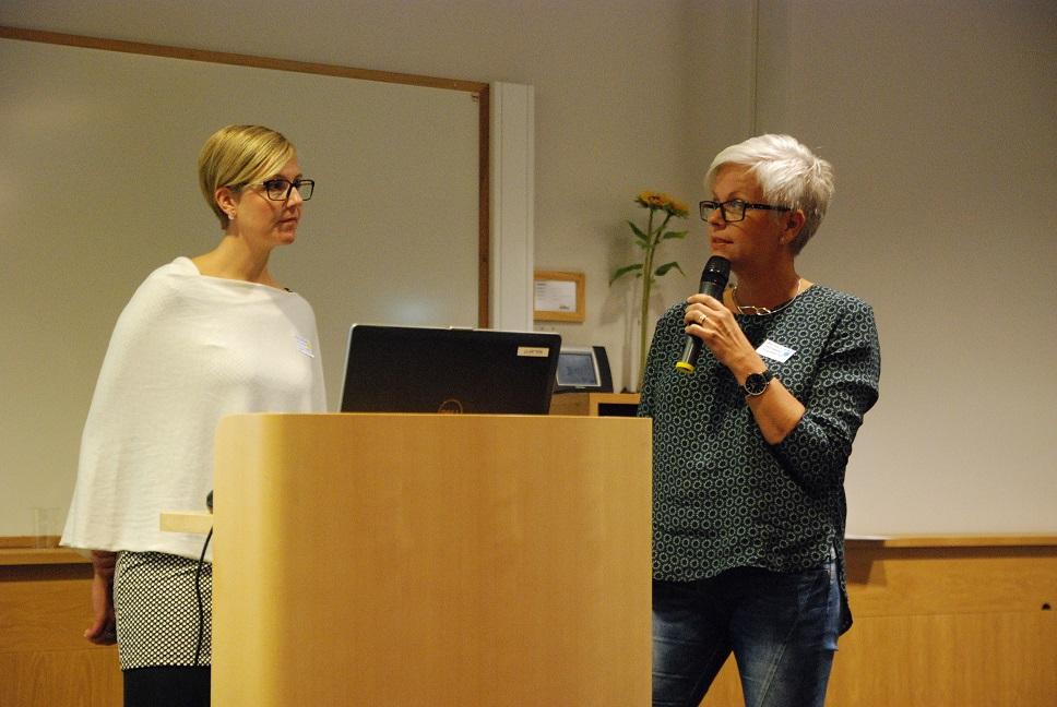 På barn- och ungdomssupporten i Hässleholm arbetar bland andra enhetschefen Tina Strömberg, till vänster, och Ann-Louise Håkansson.