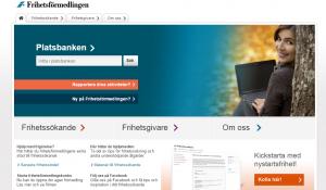 Frihetsförmedlingens hemsida har stora likheter med Arbetsförmedlingens.