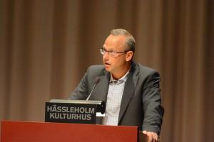 Patrik Jönsson (SD) liknade kommunens ekonomiska situation vid Ebberöds bank.