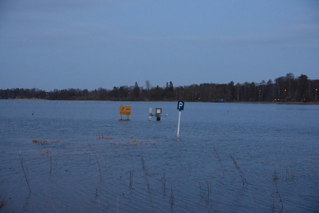 Parkeringsplats för båtar. Bilar får för närvarande parkeras en bra bit längre upp på land vid Tormestorps båthamn.