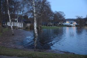 Flera nyare villor ligger illa till när Finjasjön stiger.
