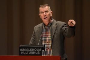 Björn Widmark (FV) vare flitig i talarstolen. Foto: Urban Önell