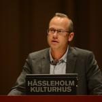 Patrik Jönsson (SD) krävde flera gånger under budgetfullmäktige S-styrets avgång. Foto: Urban Önell