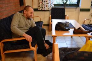 Frank Forsell prover skor och hittar ett par som passar riktigt bra.