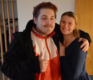 """Kristoffer Lindbom beskriver Hemlösa i Hässleholm som """"Guds gåva"""", här tillsammans med Jeanette Möller."""