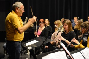 Dirigenten Ingemar Karp tyckte att inspelningen gick väldigt bra.