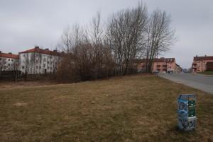 Ett nytt äldreboende i åtta våningar kan bli verklighet i området vid Kristianstadsvägen, nära de så kallade Stockholmshusen. Foto: Urban Önell