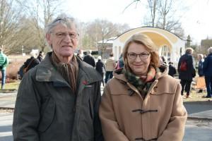 Ulf Råby och Helene Roth uppskattade att tv uppmärksammade musikpaviljongen. Foto: Urban Önell