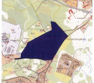 Kommunen vill exploatera området mellan Hovdalavägen och Garnisonen.