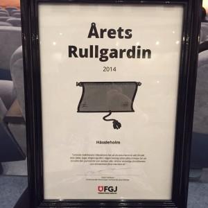 Nu får Sjöfartsverket Årets Rullgardin, förra året var det politiker och företrädare för den lokala pressen i Hässleholm. Foto: Berit Önell