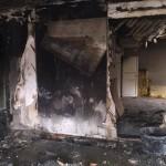 Branden orsakade stora skador på lägenheterna. Foto: Räddningstjänsten