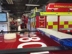 Räddningstjänsten har svårt att rekrytera folk. Heltidsstyrkan i Hässleholm får ta större ansvar när deltidsstyrkan i Vinslöv stänger dagtid. Foto: Räddningstjänsten