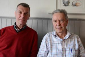Björn Widmark, till vänster, och Ernst Herslow i Folkets väl är kritiska till värderingen av Havremagasinet. Foto: Berit Önell