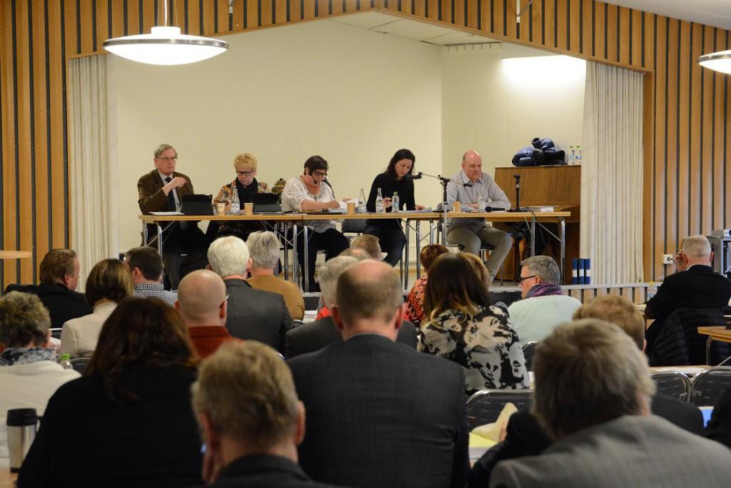 Måndagens kommunfullmäktige hölls i Hantverksgården i Hästveda. Foto: Berit Önell