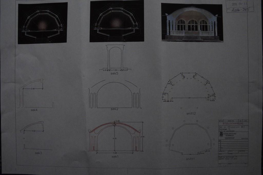 De inskickade ritningarna innehåller detaljerade beräkningar som gör det möjligt att återskapa musikpaviljongen i de delar den eventuellt inte klarar en flytt.