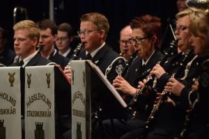 Jonas Enetjärn framträdde som klarinettsolist. Foto: Urban Önell