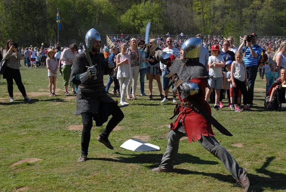 Rekordpubliken hade mycket att titta på under medeltidsdagarna.