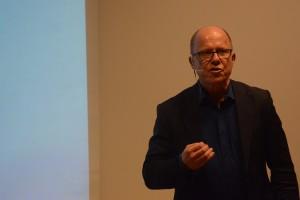 Nils Hanson berättade om varför granskande journalistik är så viktig.