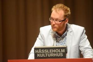 Ulf Erlandsson (SD) citerade Astrid Lindgren. Foto: Urban Önell