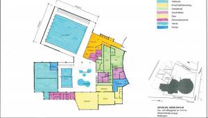 Enligt ett av utredningsförslagen ska tillbyggnad med en 25-metersbassäng uppföras och befintlig simhall byggas om med undervisningsbassäng och leklandskap.