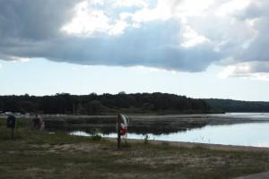 Vattenväxterna breder ut sig mellan Björkviken och Tormestorps båthamn.