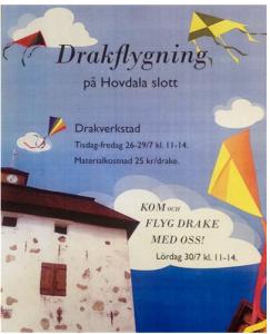 Alla barn är denna vecka välkomna att bygga och flyga drakar på Hovdala slott.