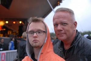 """Niklas Paulström har """"smitit"""" från ett sommarläger tillsammans med Tobias Mattsson för att träffa Bonnie Tyler personligen. Foto: Urban Önell"""