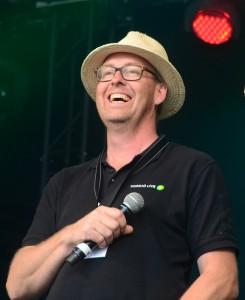 Mats Gunnarsson, Torsjö Live, och Patrik Nilsson, Studiefrämjandet, var glada att få presentera talangerna i finalen.