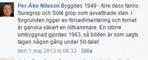 Här skriver Per-Åke Nilsson om både Suregrop och Sötegrop.