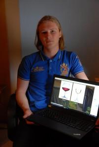Casper Thimanssons affärsidé är att jobba med webbdesign och hemsidor.