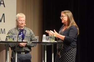 ...Per Ödling, professor i telekommunikation, vid Lunds universitet och Annsofie Persson Stenborg, Digitaliseringskomissionen. Foto: Urban Önell