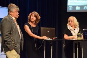 Otmar Lahodynsky, Heidi Avellan och Erika Bjerström samtalade om vikten av pressfrihet.