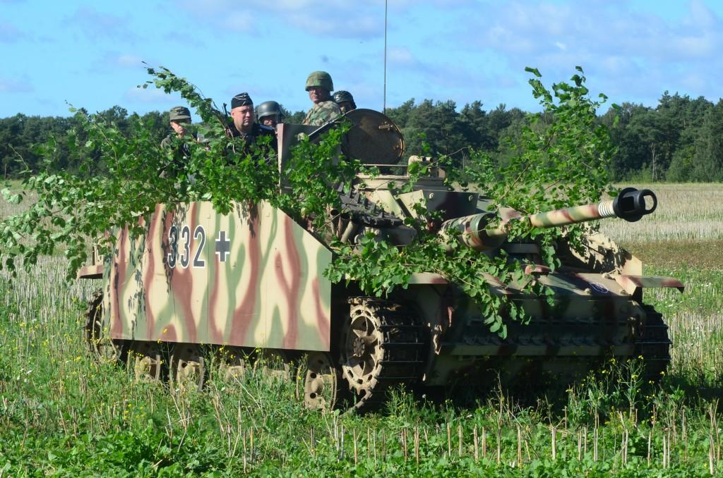 StuG III med sin besättning spelade en avgörande roll i slaget vid Mölleröd. Foto: Urban Önell
