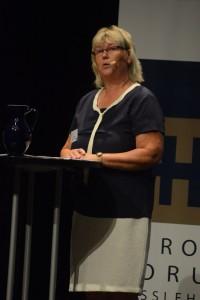 """KOmmunstyrelsens ordförande Lena Wallentheim (S) kommenterar nu """"superhelgen"""". Foto: Berit Önell"""