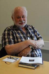 Europajournalisten Rolf Gustavsson presenterade sin nya bok redan innan Europaforum officiellt öppnat.