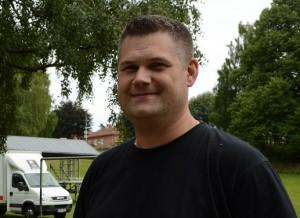 Projektledaren Viktor Johansson och kulturchefen Anders Rosengren håller i det mesta kring Hässleholmsfesten.