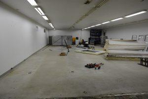 Det största rummet i lokalerna ska bli Loppishallen i Hörja.