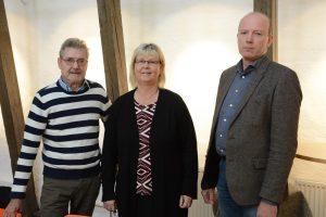 Den styrande minoritetens buydget presenterades av, från vänster Per-Åke Purk (V), Lena Wallentheim (S) och Mats Sturesson(C ). Foto: Berit Önell