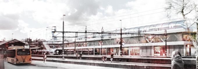 Plan för reningsverket i konflikt med järnvägen