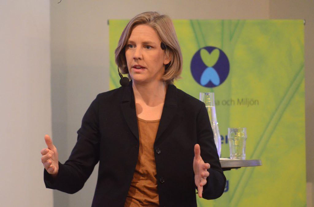 Miljöminister Karolina Skog talade vid miljökonferensen i Hässleholm på onsdagen. Foto: Urban Önell