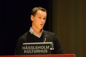 John Palmqvist, kommunens IT-chef, informerade om fiberutbyggnaden.