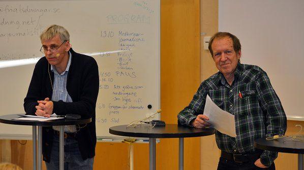 4.Urban Önell och Gert Jacobsson gav råd och tips för den som vill skriva krönikor eller insändare.